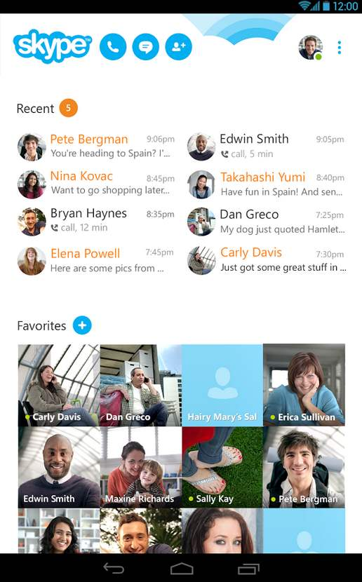 Skype 5 para Android